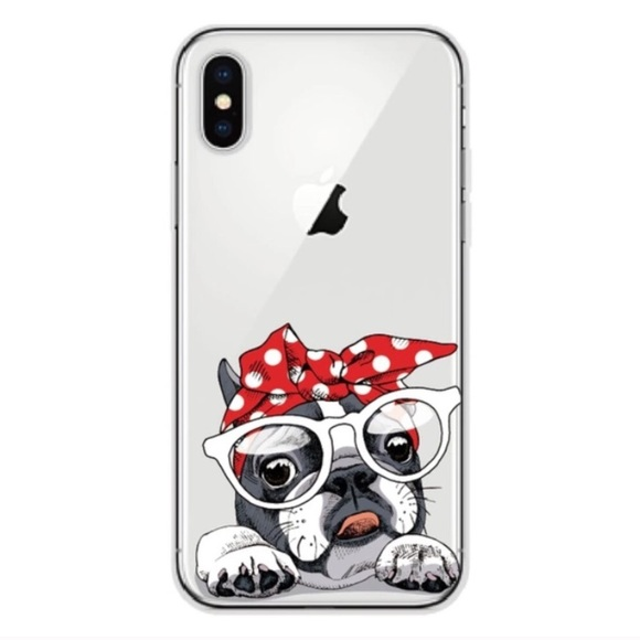 "competitive price 2afca fd847 iPhone X Case ""Red Bandana Bulldog/Frenchie"" Boutique"